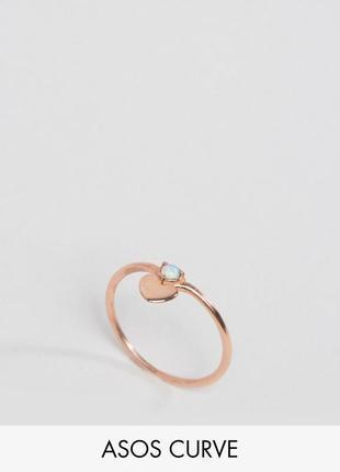 1+1=3 до 30/11 кольцо из позолоченного серебра с сердечком aso...