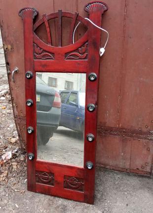 Зеркало старое с подсветкой, отреставрированное