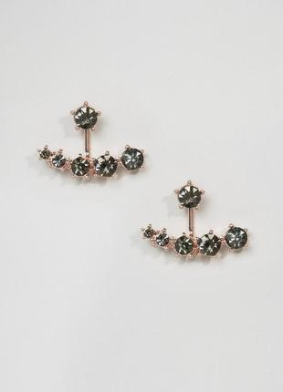 Cерьги-подвески с камнями asos сережки бижутерия