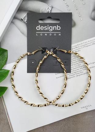 1+1=3 до 15/07 золотистые серьги-кольца designb london asos се...