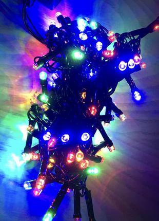 Гирлянда новогодняя разноцветная елку ёлку ночник