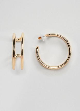 1+1=3 до 15/07 двойные серьги-кольца asos design сережки бижут...