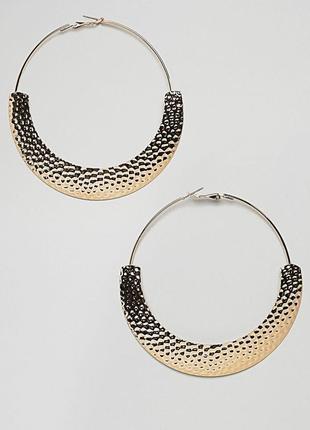 1+1=3 до 15/07 золотистые серьги-кольца asos design сережки би...