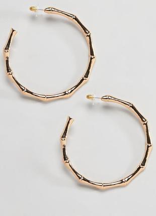 1+1=3 до 15/07 большие серьги-кольца designb london asos сереж...