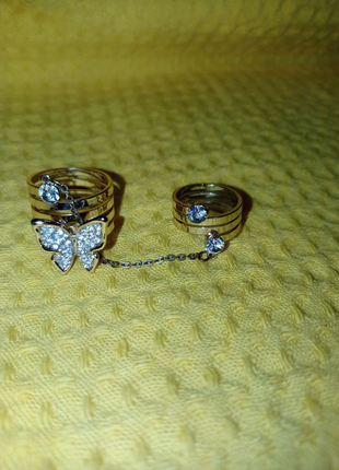 Бижутерия кольцо на фалангу
