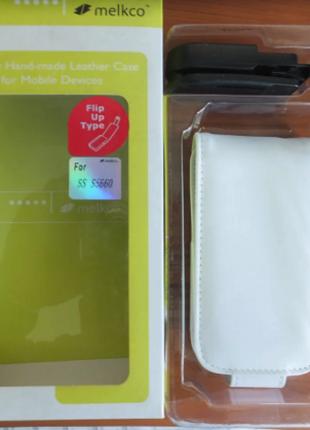 Чехол для Samsung  S5660 Galaxy Gio  Melkco Jacka Type-белый
