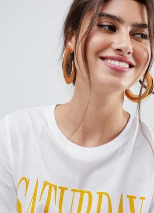 Серьги-кольца new look asos сережки бижутерия