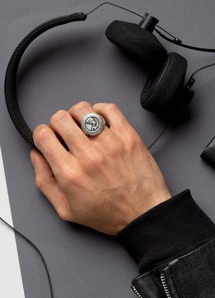 1+1=3 до 15/07 шлифованное серебристое кольцо в египетском сти...