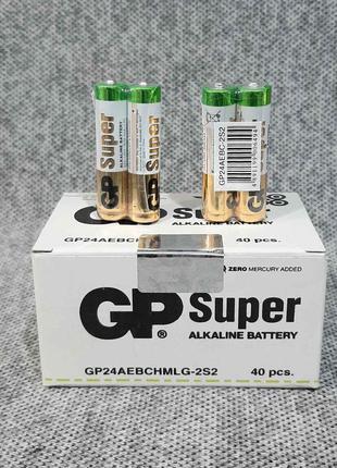 Батарейки GP Super Alkaline, (набор) ААА (LR03), упаковка 40 шт