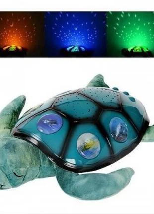 Детский мягкий ночник светильник Спящая черепаха
