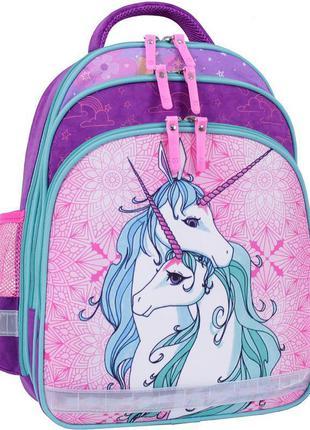Школьный рюкзак, фирменный рюкзак, единороги, рюкзак с ортопед...
