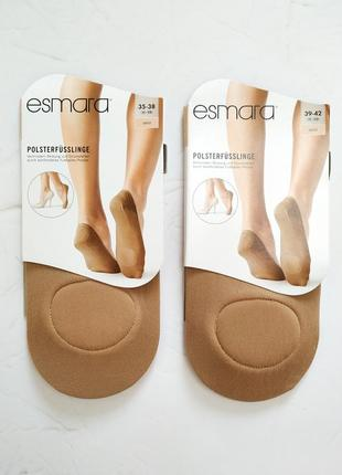 Капроновые следы esmara с мягкой подушечкой следочки носки