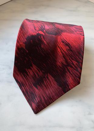 Шовкова краватка галстук шелк червона бордова в градієнт louis...