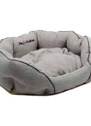 Лежак Природа Кантри 2, льняная ткань, 60х46х22 см