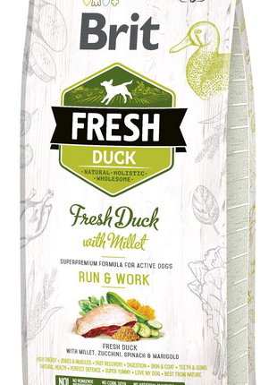 Brit Fresh DUCK & MILLET ACTIVE 2.5 кг Корм для активных взрослых