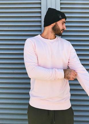 Новый базовый свитшот розовый прямого кроя унисекс