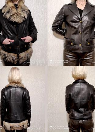 Куртка кожаная с мехом. Киев