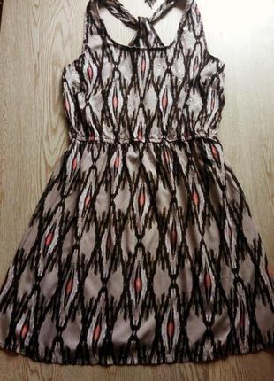 Платье геометрический принт пайетки плюс сайз большой размер б...