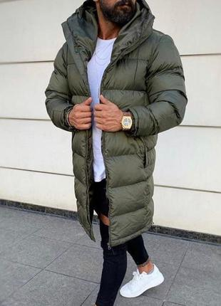 Подовжена топова зимова куртка