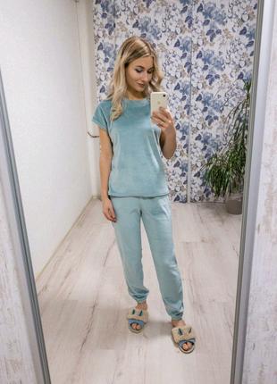 Домашняя одежда женская пижама/комплект шорты футболка штаны