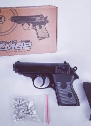 Игрушечный металлический пистолет PPS ZM02