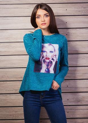 Джемпер vikamoda ,свитер,кофточка с аппликацией,молодежная одежда
