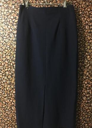 Синяя юбка-миди завышенная талия германия