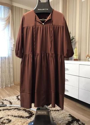 Платье шоколадное