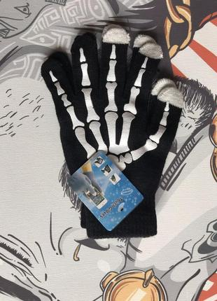 Сенсорные перчатки с прикольным рисунком