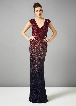 Вечернее новогоднее платье с градиентом пайетка бренд phase ei...