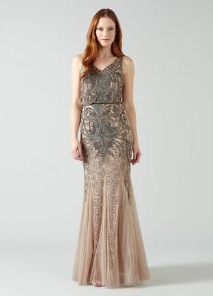 Вечернее новогоднее платье гетсби бисер ручная вышивка великоб...