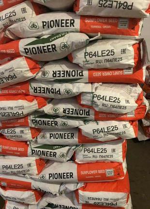 Семена подсолнечника Пионер P64LE25 оригинал 2019 остатки с хозяй