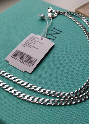 Серебряная цепочка цепь плетение гурмет картье панцирное 60 см...