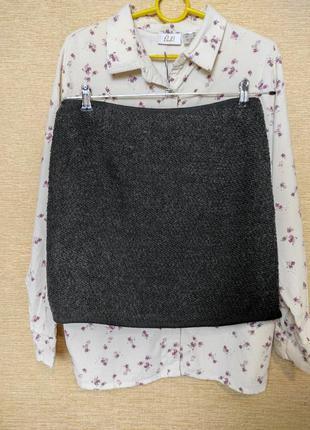 Мини юбка спідниця букле с шерстью зара