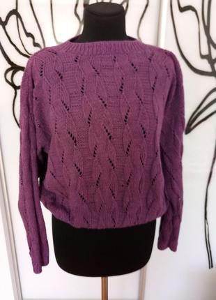 Эксклюзивный ажурный свитер ручная работа