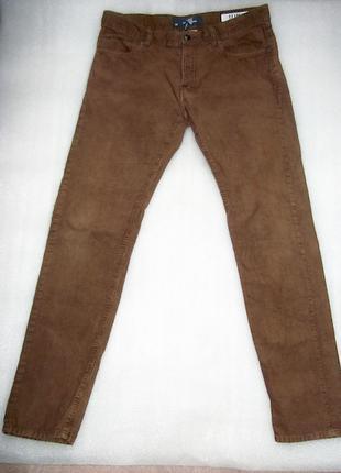 """H&M """"Logg"""" (Slim) вельвет коричневые джинсы 32"""