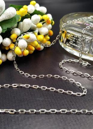 Серебряная женская цепочка 925 якорное плетение 55см