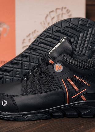 Мужские зимние кожаные ботинки Merrell Black Orang