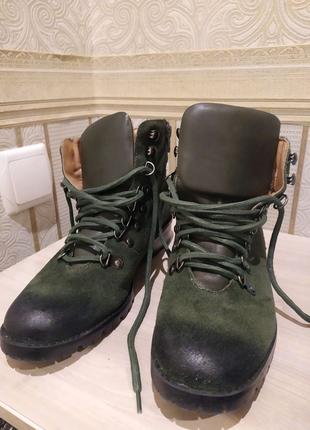 Ботинки кожаные Corso Como в стиле Тимберленд Timberland 38-39