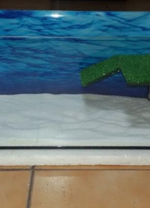 Новый террариум, аквариум с мостиком, фоном и грунтом. Доставка