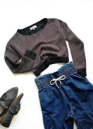 Короткий свитер свободный модный стильный