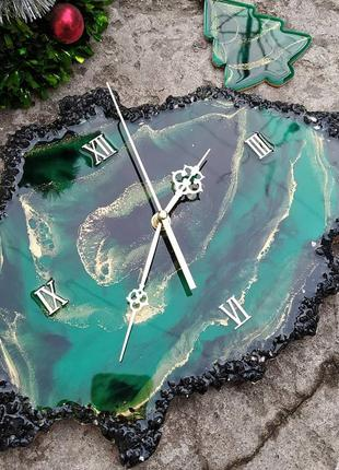 Настенные часы жеода, срез камня