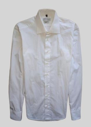 Белая рубашка с жестким воротником angelo litrico