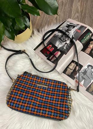 Женская стильная разноцветная сумочка river island красивая сумка