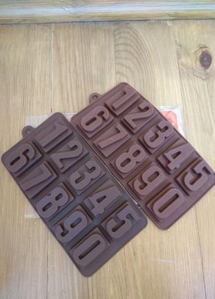 Форма для конфет, шоколада Цифры