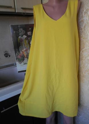 #m&co#ярко лимонное платье батал #большой размер 20 #трикотажн...