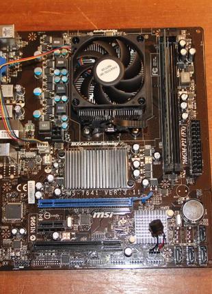 """AMD Athlon II X2 250 3.0GHz BOX + MSI """"760GM-P21/FX"""" AMD 760G ..."""