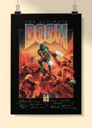 """Ігровий ретро постер. Постер """"DOOM"""""""