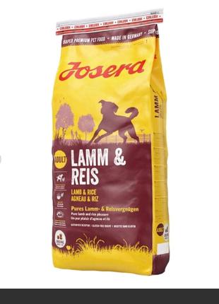 корм Josera lamb & rice 15kg