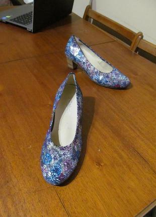 Нарядные кожаные туфли gabor comfort германия